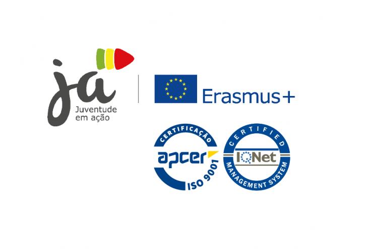 Erasmus+ JA certificada com a Norma ISO 9001:2015